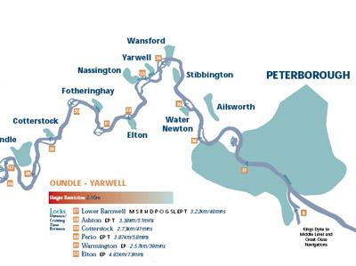 narrowboating & boating guide to Nene river