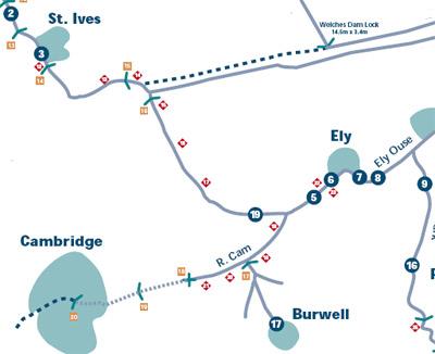 river ouse map narrowboat holiday