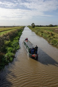 A sight rarely seen these days! NB Olive Emily pictured on the Old Bedford river in aid of a campaign to maintain the river as a navigable asset to the East Anglian waterways system.