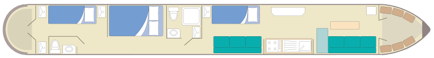 silver narrowboat-plan-5-7
