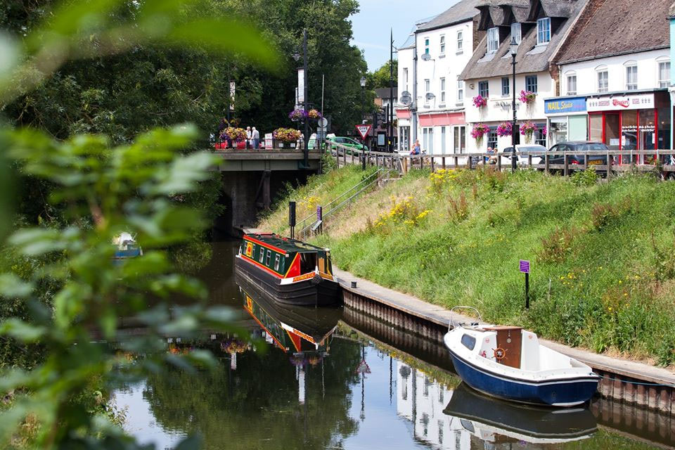 narrowboat on fens