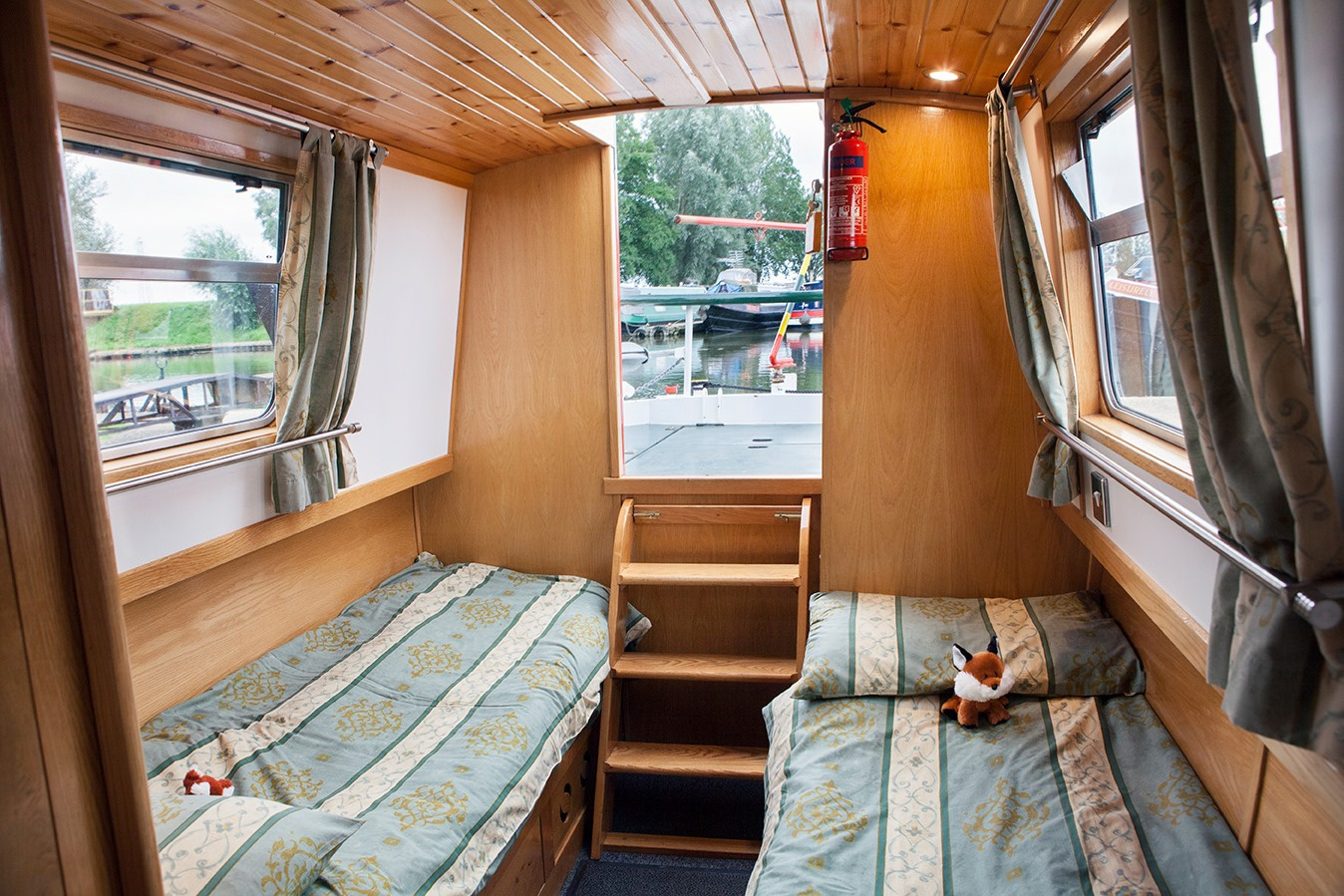 inside fox canalboat